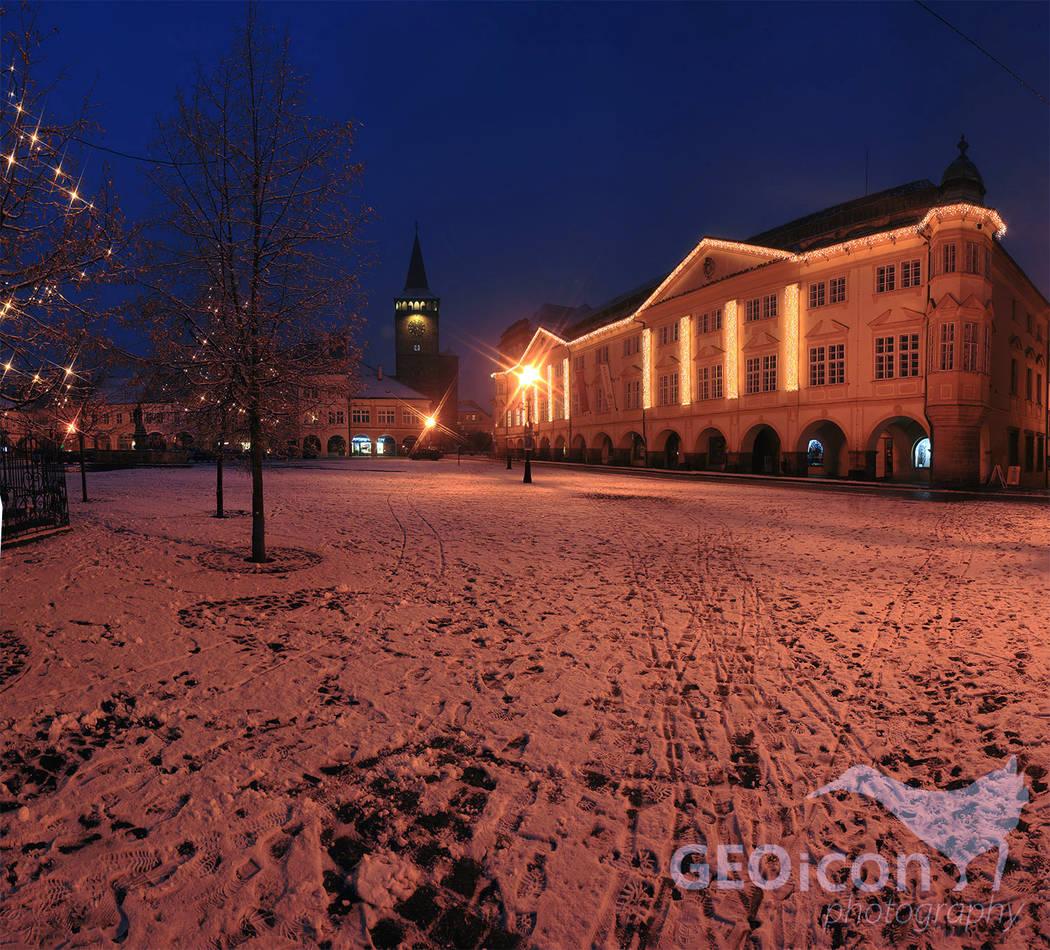 Jičín town Christmas 2016 , East Czechia.